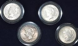Boxed 1922-1925 P Toned Peace Dollar Set