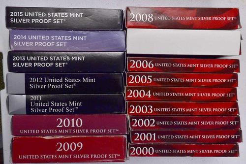 2000-2015 US Silver Proof Set Run
