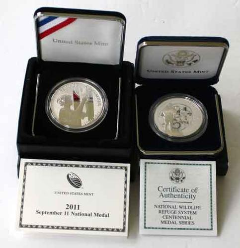 Natl Wildlife Refuge System &Sept 11 2011 Natl  Proof Medal