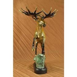 Wild Life Moose Bronze Sculpture