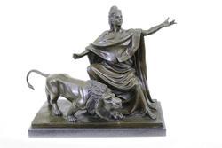 Britannia Goddess Bronze Sculpture on Marble Base