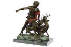 Hercules Killing Stag Bronze Statue