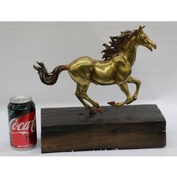 Collector Trophy Gilt Stallion Horse Bronze Sculpture