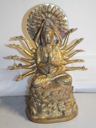 Beautiful Bronze Statue Chinese GODDESS Mercy Guan Yin