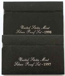 1998 and 1997 US Silver Proof Sets in original boxes