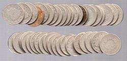 Roll of 40 Circulated Liberty 'V' Nickels