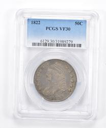 VF30 1822 Capped Bust Half Dollar - Graded PCGS