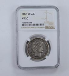 VF30 1895-O Barber Half Dollar - Graded NGC