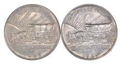 Lot (2) 1926 & 1926-S Oregon Trail Commemorative Half Dollars - Unc