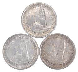 (3) 1935-S California Pacific Int'l Exposition Commem. Half Dollars