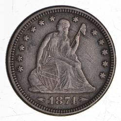 1871 Seated Liberty Quarter