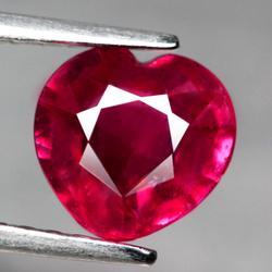 Beautiful 1.96ct heart cut Ruby