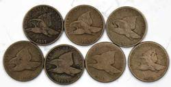 7 Assorted Flying Eagle Cents
