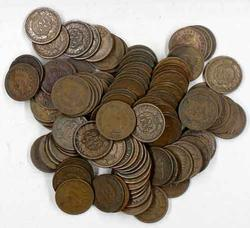 Lot of 100 Indian Cents Unsearched