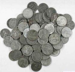 100 Steel Cents Unsearched