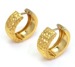 Classic Pair of Gold Hoop Earrings