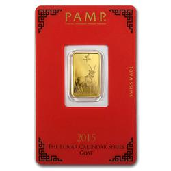 PAMP Suisse 5 Gram Gold Bar 2015 Goat Design