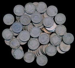 Assortment of 100 nice Full Date Liberty 'V' Nickels