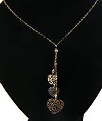 Triple Heart Dangle Necklace