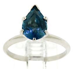 Amazing Pear London Blue Topaz Ring