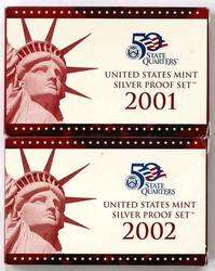 2001-2002 US Silver Proof Sets