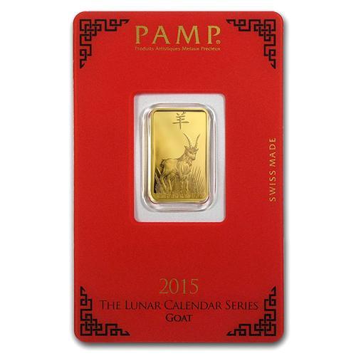 PAMP Suisse 5 Gram Gold Bar 2019 Goat Design