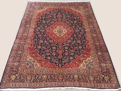 Gorgeous Mid C Authentic Hand Knotted Vintage Persian Bidgol Darbari Signed