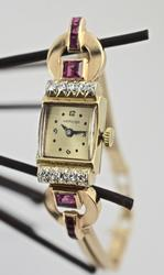 Delightful 14K Hamilton Art Deco Rose Gold Watch