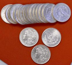 AU Roll of Pre-1921 Morgan Dollars
