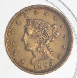 1905 $2.50 Liberty Head Gold Quarter Eagle - Uncirculated