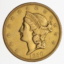 1850-O $20.00 Liberty Head Gold Double Eagle