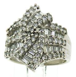 Lovely Baguette and RBC Diamond Ring