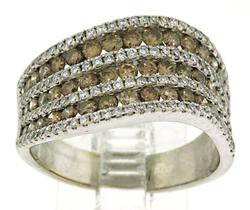Lovely Chocolate and White Diamond Ring
