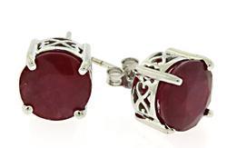 Lead Treated Round Ruby Earrings