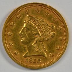 Razor-sharp 1856 $2.50 Liberty Gold Piece. Nice