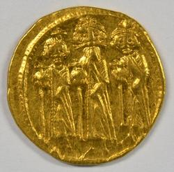 Mint Byzantine Gold Solidus Heraclius & Sons 610-641 AD