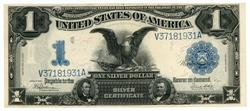 AU/UNC 1899 Large Size $1 Black Eagle Silver Cert