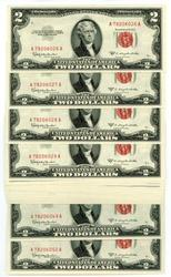 25 Gem CU 1953-C Series $2 Red Seal Notes in Sequence