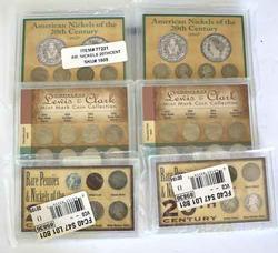 2 Each American Nickels , Rare Pennies &Nickels ,Lewis &Clark
