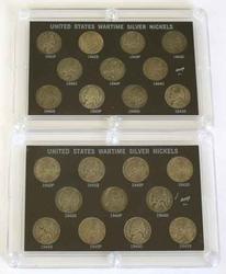 2 11 Piece World War 11 Wartime Silver Nickel Sets