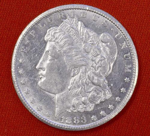 Near Unc 1883-CC Morgan Silver Dollar