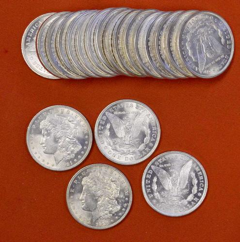 BU Roll of 1921 Morgan Dollars
