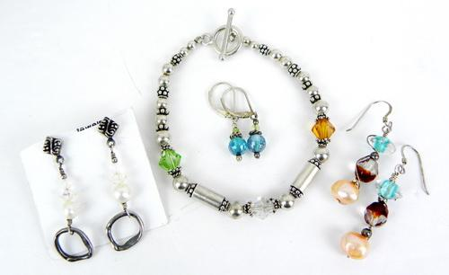 Sterling Crystal & Pearls Jewelry