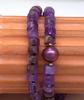 Double Strand Amethyst Bead Bracelet, 8in