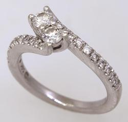 Gorgeous Diamond Ring in White Gold, Size 4.75