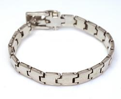 Adjustable Sterling Band with Buckle