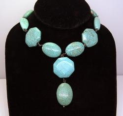 Handmade Turquoise Necklace in Sterling