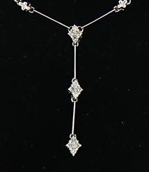 Dreamy Diamond Cluster Bar Link Necklace