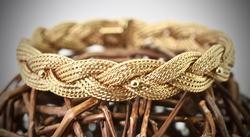 Gorgeous 18K Woven Mesh Bracelet