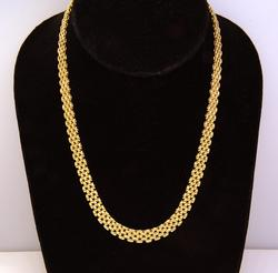Gorgeous Gold Panther Chain Necklace, 17.25in